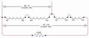 Voltage Boost Transformer Schematics - 1 Phase