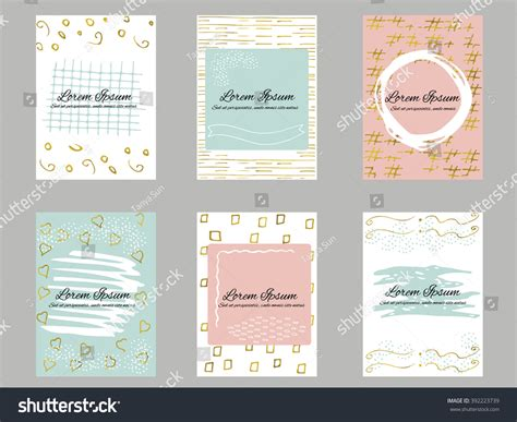 Set 6 Gold Blue Pink White Stock Vector 392223739 Red Black Business Card Background Multi Holder Free Blank Templates Ai Green Leather Binder Custom Bottle Opener Amex Cash Back Stock Pre Cut