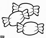 Caramelos Colorear Dibujos Colorir Tres Pintar Envueltos Snoepjes Golosinas Desenho Doces Bonbons Desenhos Coloring Kleurplaat Imagenes Colorare Imagen Guloseimas Caramelle sketch template