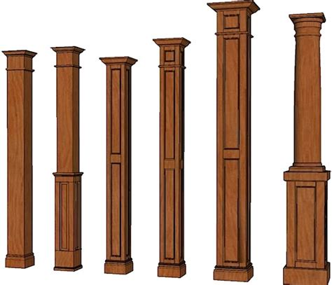 column style floor ls wood posts and columns columns stain grade columns