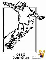 Coloring Snowboarder Hockey Snowboard Winter Printable Colouring Sport Cold Yescoloring Boys Bone sketch template