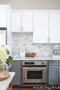gray white marble kitchen reveal 2318