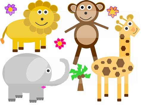 clipart animals fresh jungle animals clipart for free search for