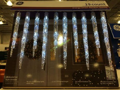 ge christmas lights costco ge 19 count twinkling led molded icicle lights costcochaser