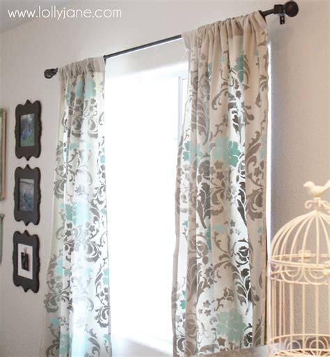 stenciled curtains