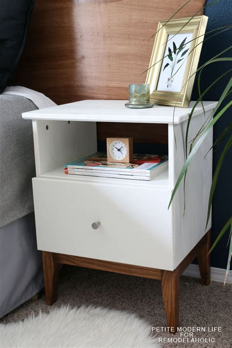 Nightstand Hack by Remodelaholic Easy Mid Century Ikea Tarva Nightstand Hack