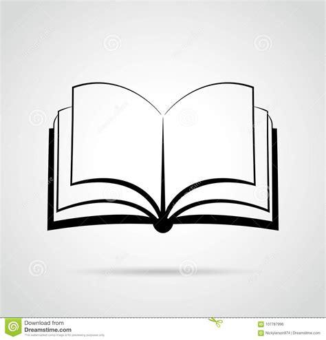 Disegno Del Nero Di Progettazione Del Libro Aperto