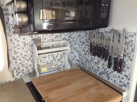 Smart Tiles Kitchen Backsplash A Smart Choice For Tiles In A Rv Smart Tiles Follow The High Line Home