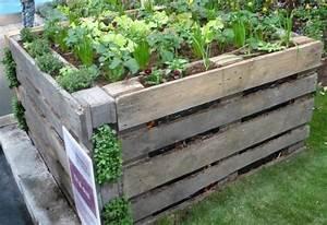 Creation Potager Surélevé : potager sureleve avec palette en bois de recuperation ~ Premium-room.com Idées de Décoration