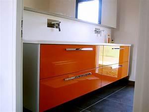 Salle De Bain Orange : meuble salle de bain italienne orange ~ Preciouscoupons.com Idées de Décoration
