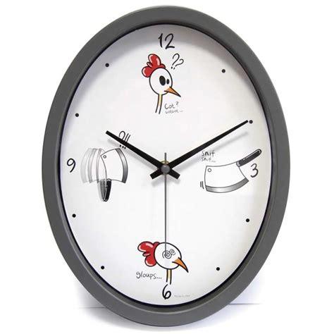 horloge cuisine originale horloge cuisine quot ludik quot grise