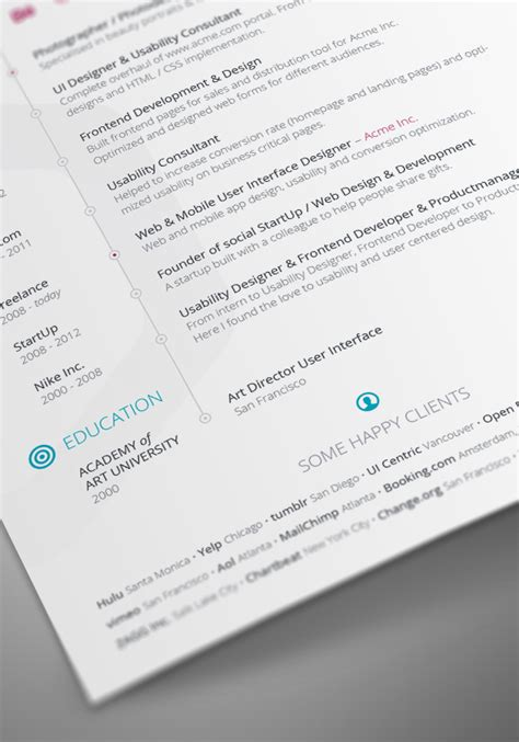 Indesign Resume Template 2014 by Free Vita Resume Cv Template For Indesign Printriver 169