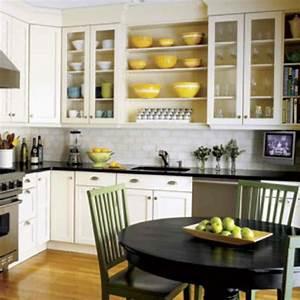 Modern White Kitchen Island With Round Table Under