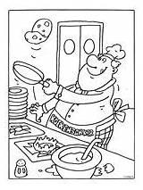 Kleurplaat Kleurplaten Pannenkoeken Bakken Koken Pannekoek Coloring Pancake Restaurant Kok Colouring Groep Voeding Sheets Kleurplatenl Pannenkoekdag Nationale Pannenkoek Wix Blank sketch template