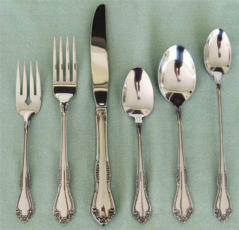 kitchen flatware stainless steel silverware silver laurensthoughts workhorse service ruby lane inspirations contemporary garden