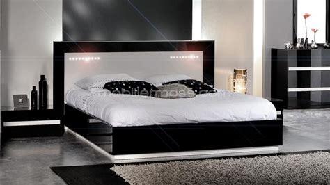 chambre lit blanc chambre blanc laque design chaios com