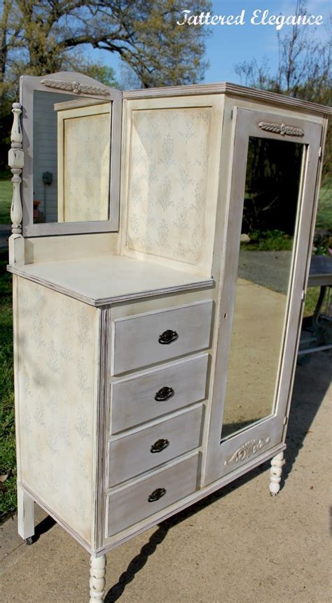 White Wardrobe Dresser by Furniture Chic White Painted Antique Chifferobe With