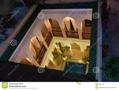 open courtyard  moroccan house stock photo image  cultural berber