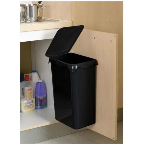 poubelle cuisine poubelle de placard portasac 23 l noir achat vente poubelle corbeille poubelle de