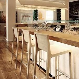 Tabouret De Bar Avec Dossier : tabouret de bar en bois barazzi ~ Teatrodelosmanantiales.com Idées de Décoration