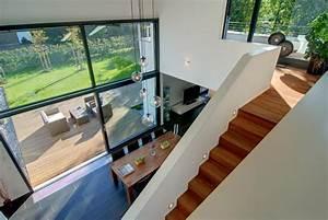Haus Mit Galerie Im Wohnzimmer : design fertighaus hohes wohnzimmer bild 2 sch ner wohnen ~ Orissabook.com Haus und Dekorationen