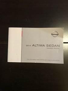2014 Nissan Altima Sedan Owners Manual Oem Free Shipping