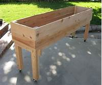 raised planter box plans Nice Portable Elevated Planter | Patio | Pinterest ...