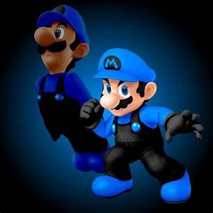 Black And Blue Mario Super Smash Bros For Wii U Gt Skins