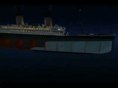 titanic sinking simulation titanic sinking simulation vs new cgi of how titanic sank
