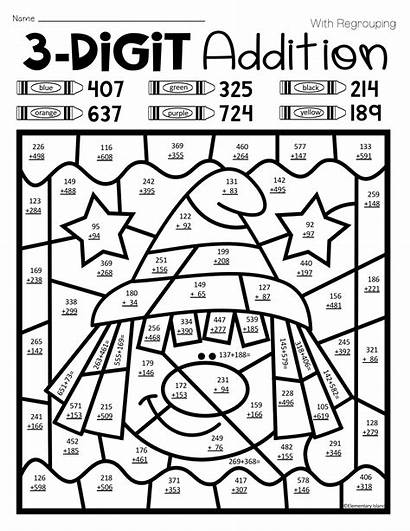 Addition Halloween Regrouping Without Digit Worksheets Math