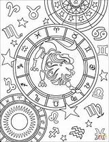 Zodiac Coloring Pages Signs Sign Leo Printable Horoscope Adult Drawing Aries Signos Sagittarius Adults Star Zodiaco Mandala Cool Para Mandalas sketch template