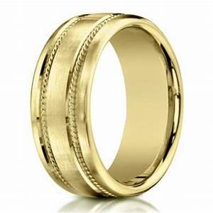75mm men39s 18k yellow gold designer wedding band with With designer wedding rings men