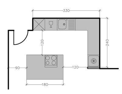 exemple plan de cuisine plan de cuisine avec îlot central les 6 exemples à