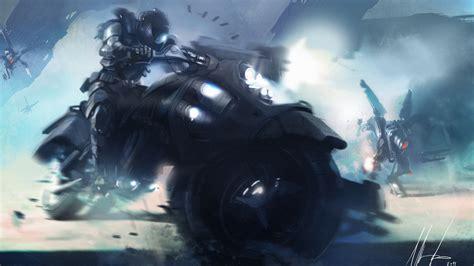 Anime, Motorcycle, Futuristic, Vehicle