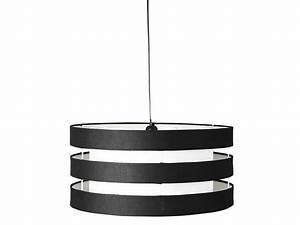 Suspension Luminaire Noir : suspension ferret coloris blanc et noir vente de luminaire enfant conforama ~ Teatrodelosmanantiales.com Idées de Décoration
