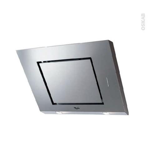 cuisine oskab hotte de cuisine aspirante inclinée 80 cm inox whirlpool akr808ix oskab