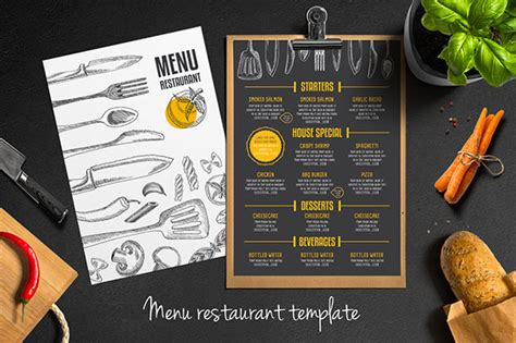 Menu Brochure Template Word by Restaurant Flyer Templates 65 Free Word Pdf Psd Eps