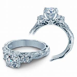 Verragio Engagement Rings 5013R 4 GLD 045CTW Diamond Setting