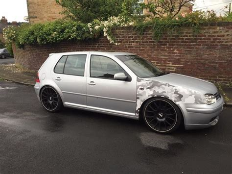 volkswagen golf modified vw golf mk4 gti lowered bbs modified in hexham