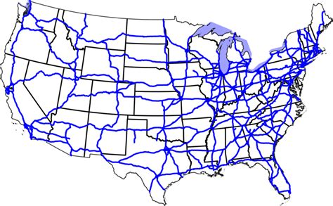 interstate highways system highway map route
