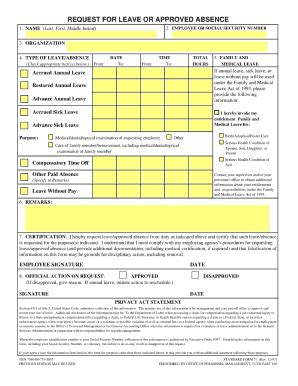 sf 71 leave form sf71 301 fill online printable fillable blank pdffiller