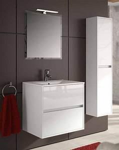 Ensemble meuble salle de bain en 60 ou 70 cm noja 600 700 for Salle de bain design avec ensemble salle de bain bois