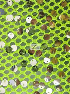 Ariel Fishnet Nylon Sequin Fabric | Sequins Fabric