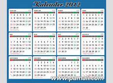 Download Kalender 2012 Lengkap Dengan Hari Libur Nasional