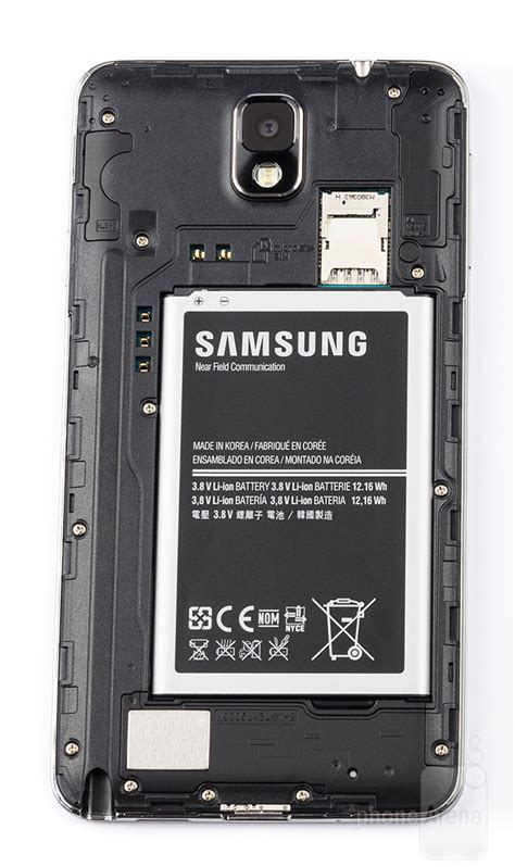 samsung galaxy note 3 battery test a in faux