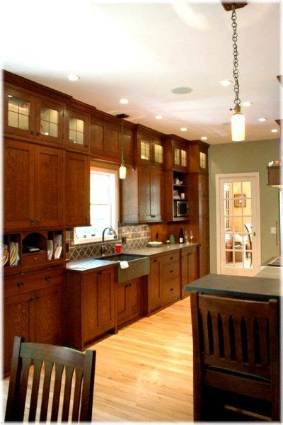 craftsman mission style fully custom design kitchen