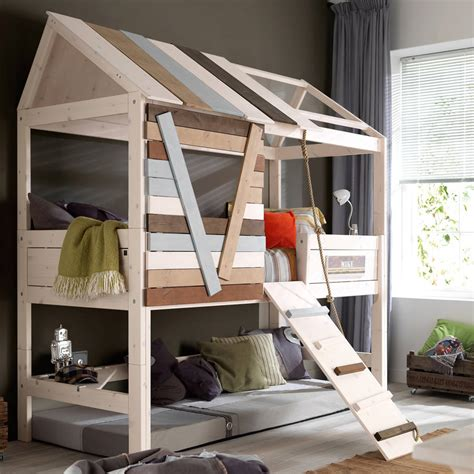 high tree house kids bed  rope ladder  cuckooland notonthehighstreetcom