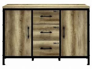 Buffet Salon Conforama : rangement 2 portes 3 tiroirs loft vente de buffet bahut vaisselier conforama lit 1 place ~ Teatrodelosmanantiales.com Idées de Décoration