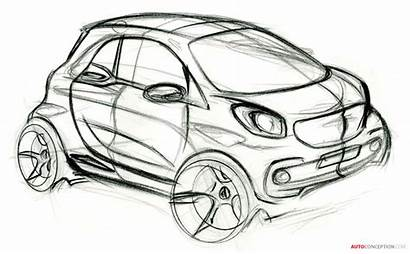 Smart Fortwo Sketch Forfour Cars Officially Revealed