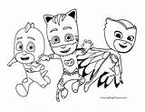 Coloring Catboy Popular Pj Masks sketch template
